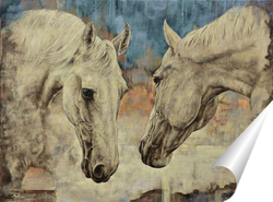 Постер Две лошади