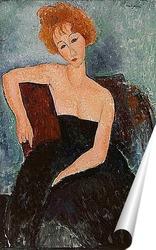 Постер Рыжая девушка в вечернем платье