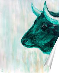 Постер Зелёный бык