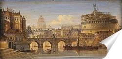 Постер Рим замок ангела