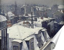 Постер Крыши в снегу