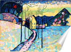 Постер Зимний пейзаж (1909)