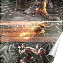 Постер Спортивный коллаж