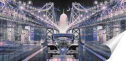 Постер Мосты ночью