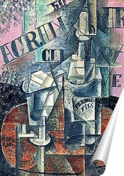 Постер Стол в кафе.1912