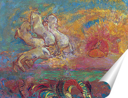 Постер Колесница Аполлона и дракон
