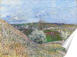 Постер У холмов Санкт-Маммес весной