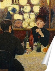 Постер В кафе