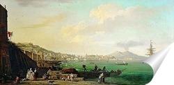 Постер Вид на Неаполь и Везувий