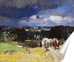 Постер Коровы на лугу