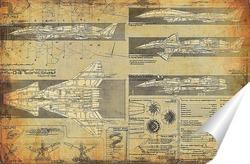 Постер Схема самолета