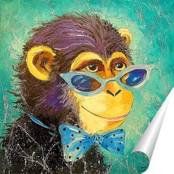 Постер Мальчик обезьяна