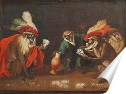 Постер Игроки в карты