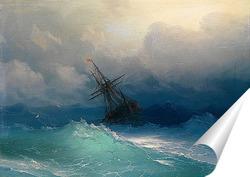 Постер Судно в Бурных Морях