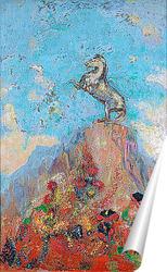 Постер Пегас на пике скалы