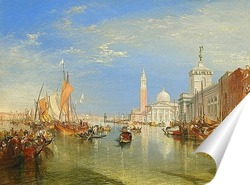 Постер Догана и Санта Мария делла Салюте, Венеция