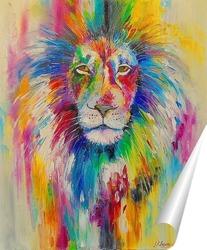 Постер Радужный лев