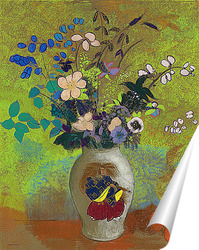 Постер Цветы в китайской вазе
