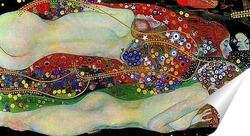 Постер Водяные змеи II, 1907