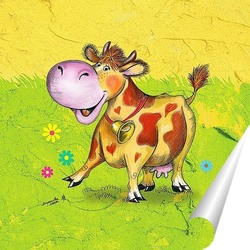 Постер Корова Бурка