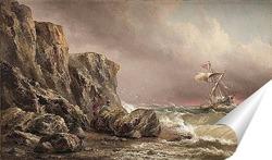 Постер Море и скалы
