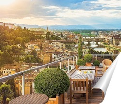 Постер Пейзаж города Флоренции