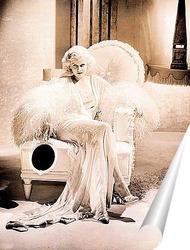 Постер Джин Харлоу сидящая в кресле,1931г.