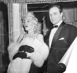 Постер Мерелин Монро и Марлон Брандо,1955г.