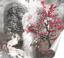 Постер Цветущее дерево