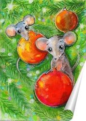 Постер Мыши и Новый Год