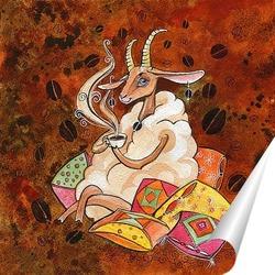 Постер Кофейная  овечка