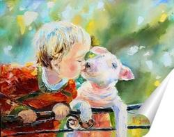 Постер Маленькие друзья