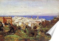 Постер Вид Генуи спрогулочной площадки в Аска Сола.1843