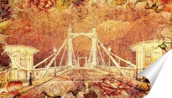 Постер Альберт мост. Лондон