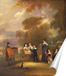Постер Преподобный и миссис Генри Палмер с их шести детьми младшего воз