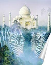 Постер Тадж-Махал в Индии