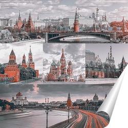Постер Монохромная Москва