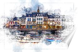 Постер Каналы Голландия