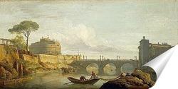 Постер Мост и замок Святого Ангела в Риме