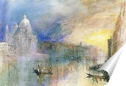 Постер Венеция, Большой канал с Санта-Мария-делла-Салюте