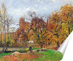 Постер Осенний пейзаж рядом с Понтуаз