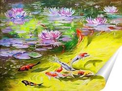 Постер Рыбки кои