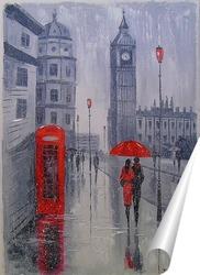 Постер В Лондоне выпал снег