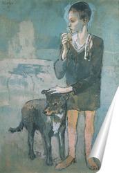 Постер Мальчик с собакой.1905г.