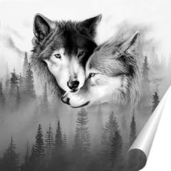 Постер Любовь и волки