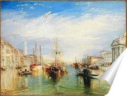 Постер Венеция, из крыльца Мадонны делла Салюте, 1835.