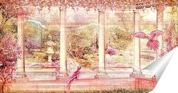 Постер Панорама цветущего сада