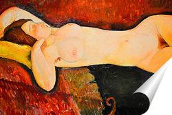 Постер Лежащая обнаженная, 1919