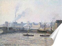 Постер Мост Сент Север из Руана.Туман
