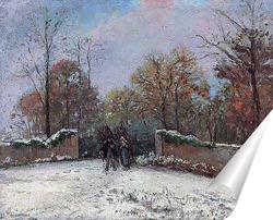 Постер Вход в лес Марли (Снежный эффект)
